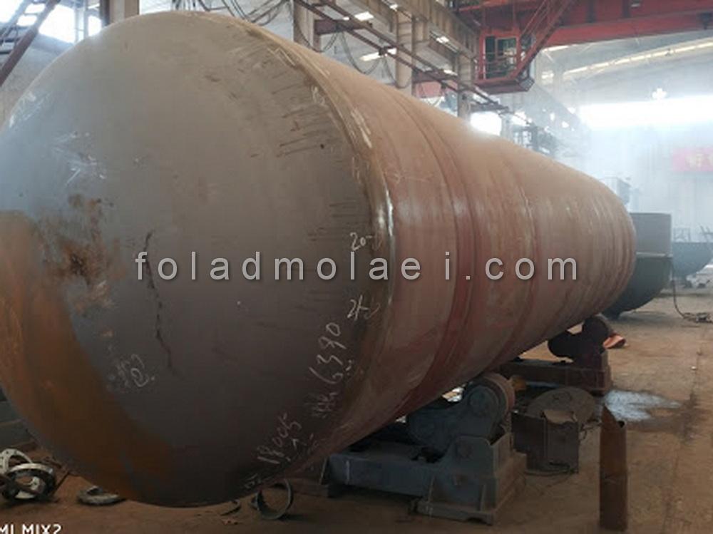 ورق های فولادی برای ساخت مخازن تحت فشار